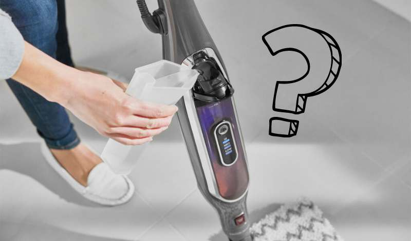 Can you put anything other than water in a Shark steam mop